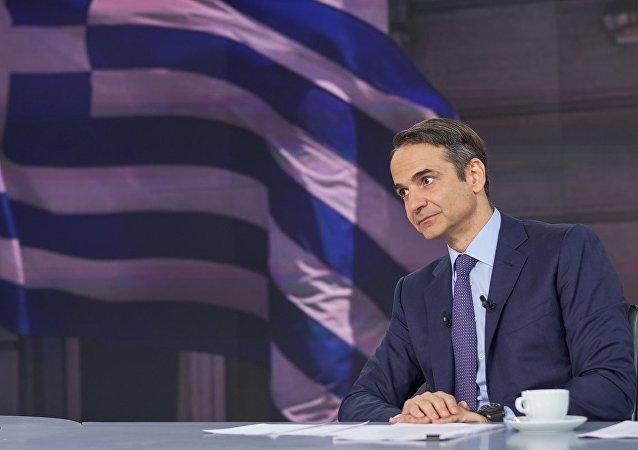 O πρόεδρος της Νέας Δημοκρατίας, Κυριάκος Μητσοτάκης
