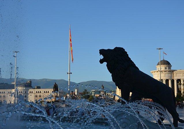 Αποψη από την πόλη των Σκοπίων