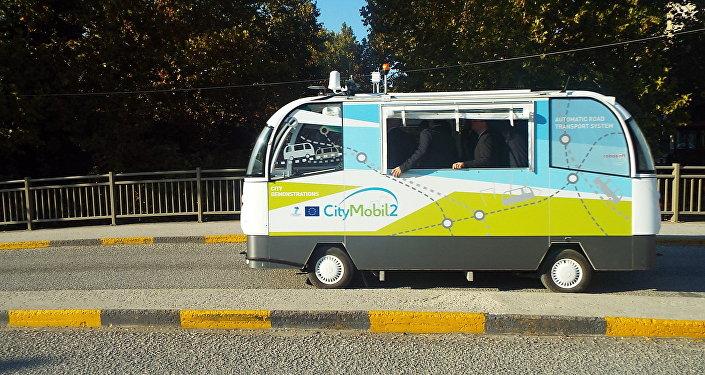 Λεωφορείο χωρίς οδηγό στα Τρίκαλα