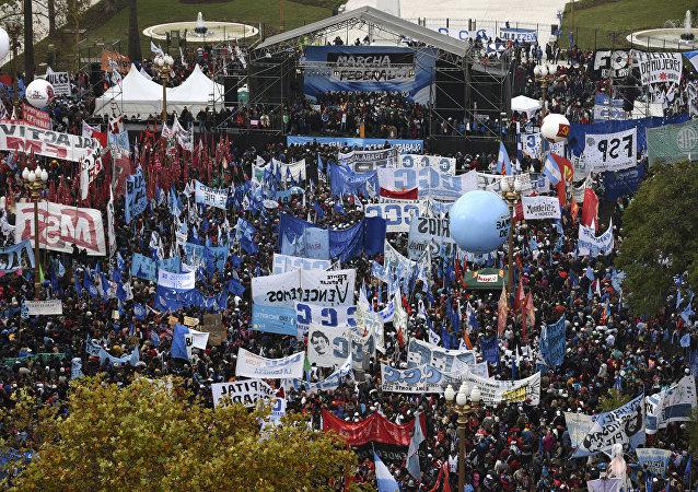 Διαδηλώσεις στην Αργεντινή κατά του ΔΝΤ