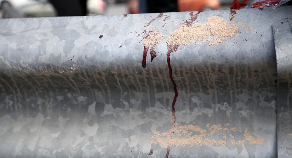 Αίμα στο στηθαίο δρόμου μετά από τροχαίο