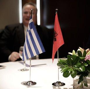 Συνάντηση του υπουργού εξωτερικών Νίκου Κοτζιά με τον Αλβανό ομόλογό του Ντιτμίρ Μπουσάτι