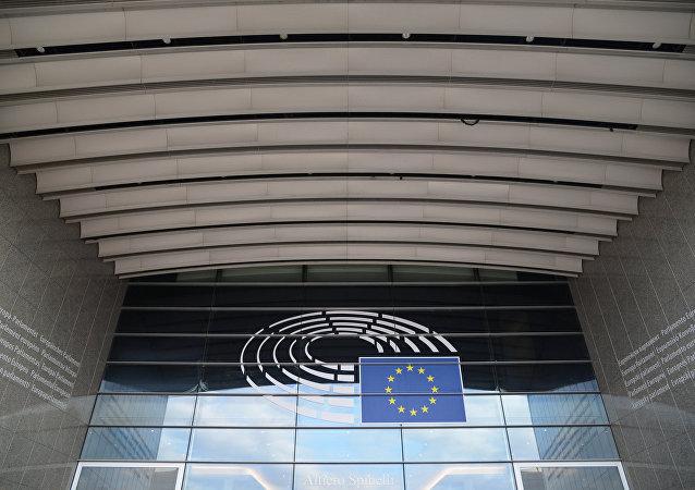 Το σύμβολο της Ευρωπαϊκής Επιτροπής στα κεντρικά γραφεία στις Βρυξέλλες