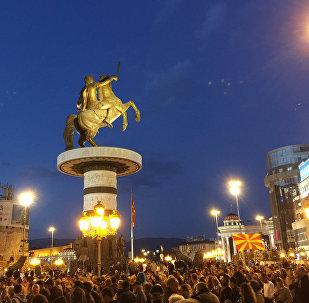 Διαδήλωση της αντιπολίτευσης στα Σκόπια