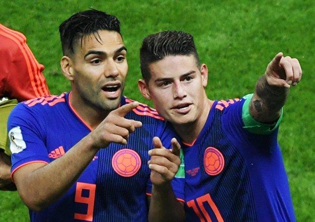Ραδαμέλ Φαλκάο και Χάμες Ροντρίγκες, Πολωνία - Κολομβία 0-3, Παγκόσμιο Κύπελλο 2018, Ρωσία