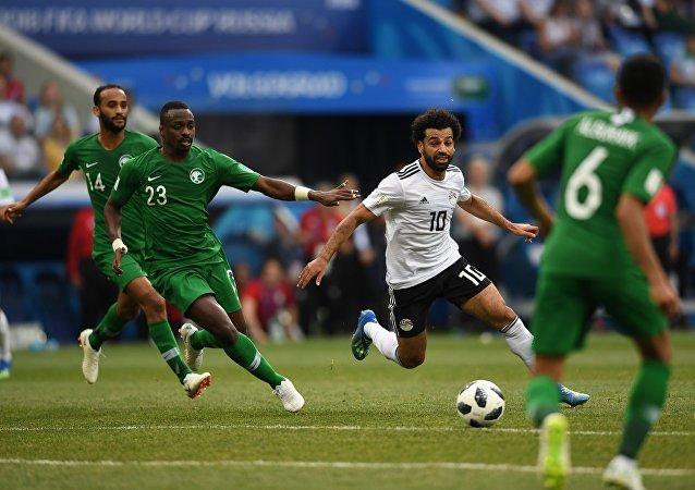 Μοχάμεντ Σαλάχ, Σαουηδική Αραβία - Αίγυπτος 2-1, Παγκόσμιο Κύπελλο 2018, Ρωσία