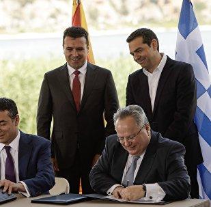 Τελετή υπογραφής της συμφωνίας με την ΠΓΔΜ για το θέμα του ονόματος
