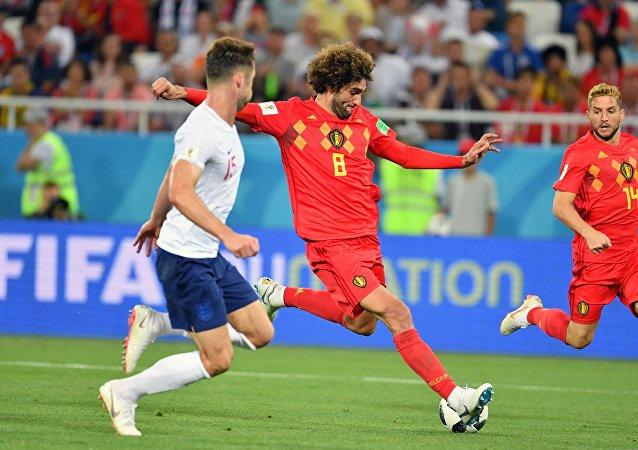 Μαρουάν Φελαϊνί, Αγγλία - Βέλγιο 0-1, Παγκόσμιο Κύπελλο 2018, Ρωσία