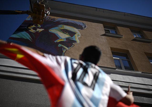 Τοιχογραφία, Λιονέλ Μέσι, Παγκόσμιο Κύπελλο 2018