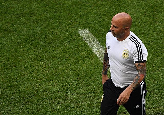 Χόρχε Σαμπάολι, Γαλλία - Αργεντινή 4-3, Παγκόσμιο Κύπελλο 2018, Ρωσία