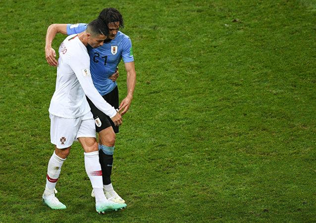 Κριστιάνο Ρονάλντο και Εντίσον Καβάνι, Ουρουγουάη - Πορτογαλία 2-1, Παγκόσμιο Κύπελλο 2018, Ρωσία