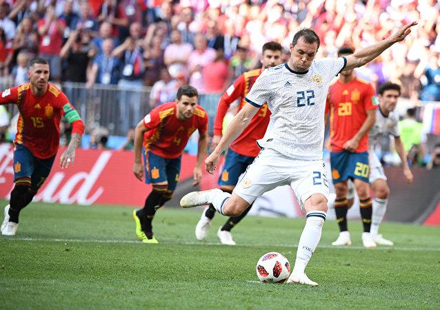 Αρτέμ Τζιούμπα, Ρωσία - Ισπανία, Παγκόσμιο Κύπελλο 2018, Ρωσία