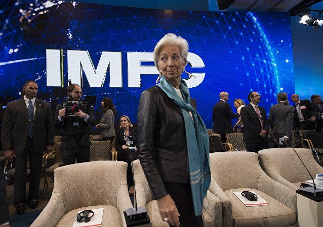 Η γενική διευθύντρια του ΔΝΤ, Κριστίν Λαγκάρντ