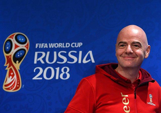 Ο πρόεδρος της FIFA, Τζάνι Ινφαντίνο