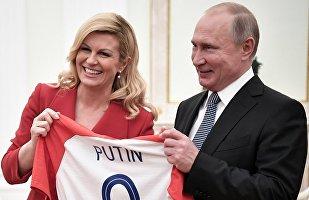 Βλαντίμιρ Πούτιν και Κολίντα Γκράμπαρ-Κιτάτροβιτς