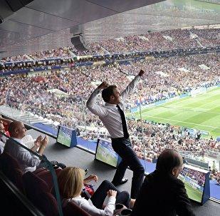 Εμανουέλ Μακρόν, Γαλλία - Κροατία, Παγκόσμιο Κύπελλο 2018, τελικός