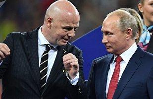 Βλαντίμιρ Πούτιν και Τζιάνι Ινφαντίνο, Παγκόσμιο Κύπελλο 2018