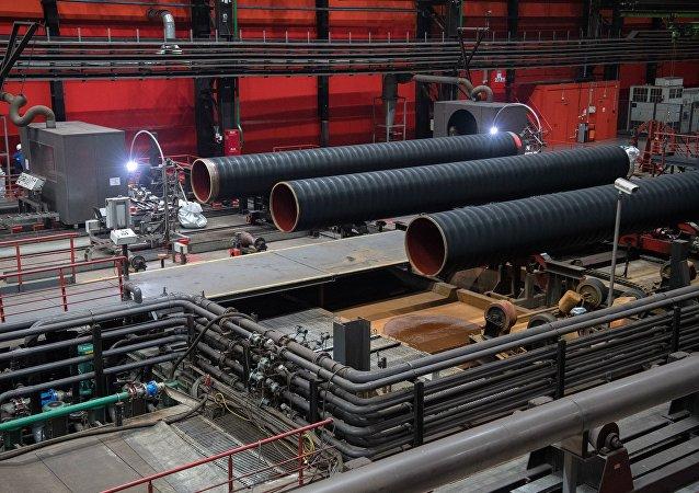 Το εργοστάσιο όπου κατασκευάζεται ο αγωγός Nord Stream 2