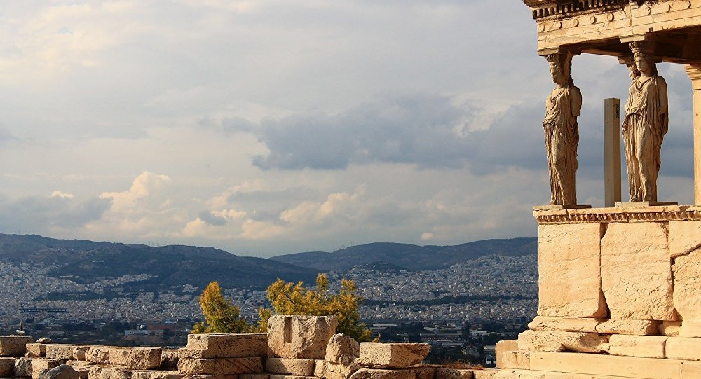 Άποψη της Αθήνας από τον λόφο της Ακρόπολης