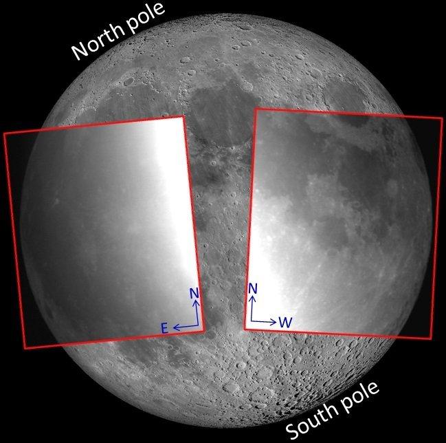 Οι περιοχές της Σελήνης που κατά βάση γίνονται οι παρατηρήσεις