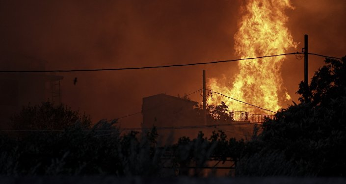 Πυρκαγιά στην Πεντέλη, στις 23 Ιουλίου, 2018