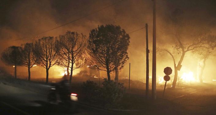 Πυρκαγιά στο Μάτι Αττικής