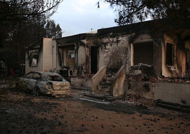 Η επόμενη μέρα της πυρκαγιάς στο Μάτι της Νέας Μάκρης