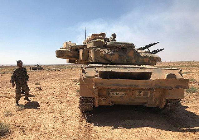 Ο συριακός στρατός στα σύνορα με την Ιορδανία