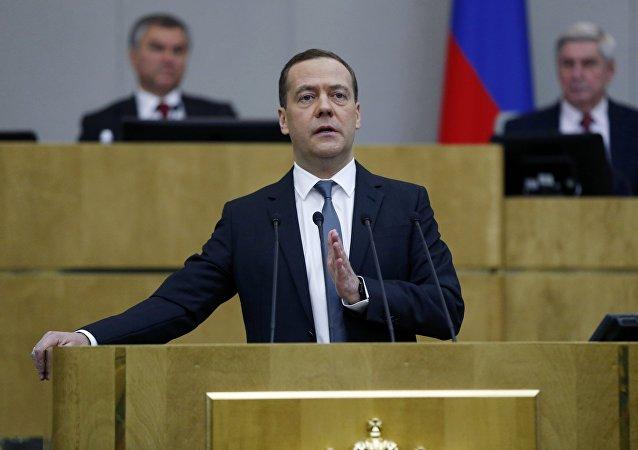 Ο ρώσος πρωθυπουργός, Ντμίτρι Μεντβέντεφ
