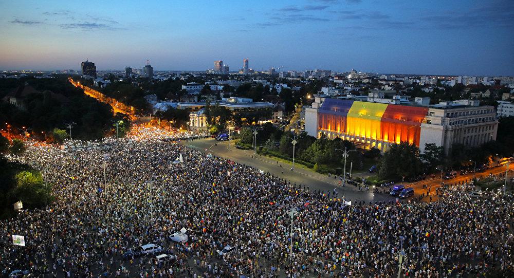 Διαδήλωση στη Ρουμανία