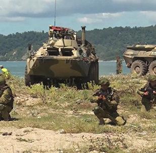 Στρατιωτική άσκηση από τις ρωσικές ένοπλες δυνάμεις