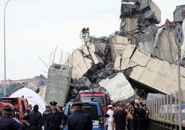 Η κατάρρευση της γέφυρας Μοράντι στη Γένοβα
