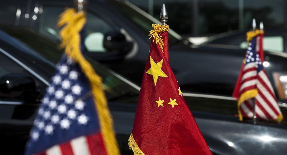 Σημαίες ΗΠΑ - Κίνας.