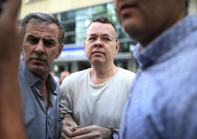 Ο Αμερικανός πάστορας Άντριου Μπράνσον που κρατείται στην Τουρκία