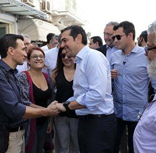 Eπίσκεψη του Αλέξη Τσίπρα στην Σύρο