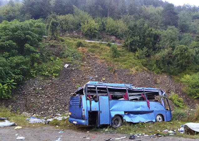 Ανατροπή λεωφορείου στη Βουλγαρία