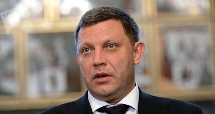 Ο ηγέτης της αυτοανακηρυχθείσας Λαϊκής Δημοκρατίας του Ντονέτσκ στην ανατολική Ουκρανία, Αλεξάντρ Ζαχαρτσένκο.
