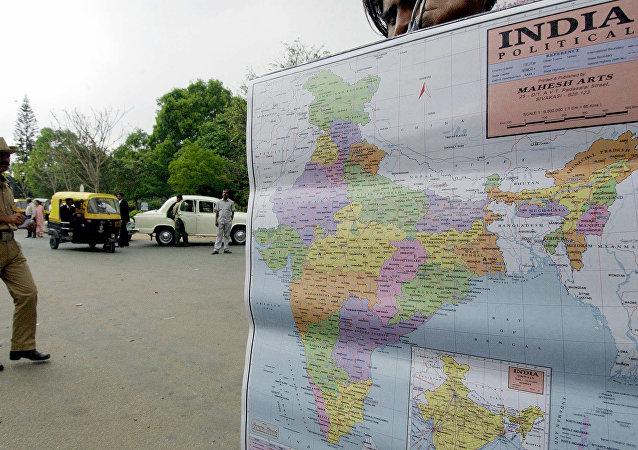 Χάρτης της Ινδίας