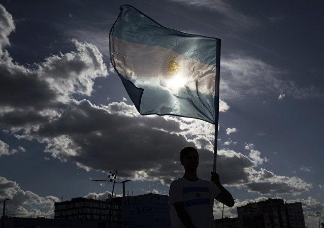 Η σημαία της Αργεντινής.