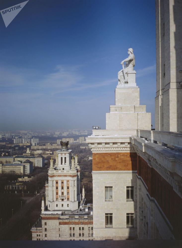 Θέα της Μόσχας από το κεντρικό κτίριο του πανεπιστημίου Λομονόσοβ