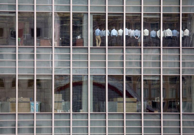 Σύσκεψη στα κεντρικά γραφεία της Lehman Brothers τον Σεπτέμβριο του 2007