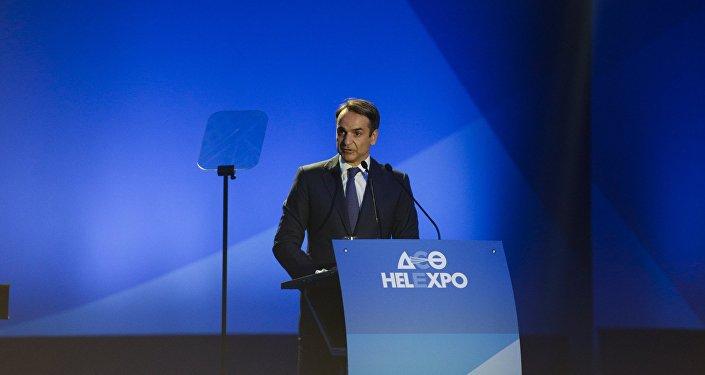 Ο πρόεδρος της ΝΔ, Κυριάκος Μητσοτάκης, στη ΔΕΘ